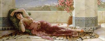 classical painting classical reclining girl by emile eismann semenowski