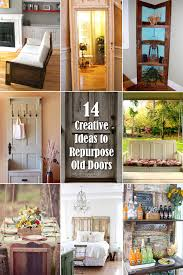 14 creative ideas to repurpose old doors and giving them a