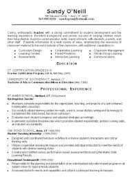 Resume Samples For Teachers With No Experience – Francistan Template