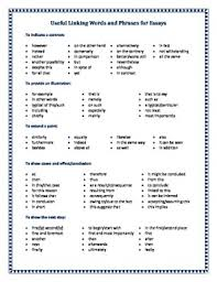 this useful handout contains lists of linking terms useful for this useful handout contains lists of linking terms useful for students when writing essays linking