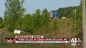 3 killed 3 seriously hurt in johnson county church van crash kshb 41 action news