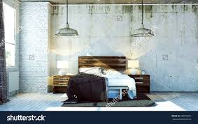industrial style bedroom furniture. accessoriesappealing rendered bedroom industrial style stock photo design bench bed on casters frame bedding furniture