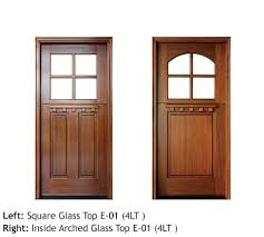cottage style entry doors mahogany square top with divided 4 lite glass top door