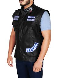 jax teller sons of anarchy motorcycle leather vest