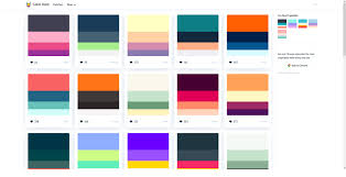Colour Swatches For Designers Analyzing Ux Of Color Palettes Websites Prototypr