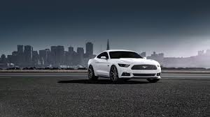 2015 ford mustang wallpaper. Modren Ford HD Background 2015 Ford Mustang GT White Color Side View Fog Street  Wallpaper For