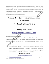 sample on operation management in business by instant essay writing operations while developing 5
