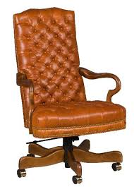 leather office. Tufted Leather Office Chair