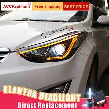 2012 Hyundai Elantra Running Light Bulb 2pcs Led Headlights For Hyundai Elantra 2013 2016 Led Car