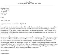 sales ledger clerk cover letter writing a speculative cover letter