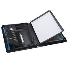 Designer Padfolio Amazon Com Zipper Portfolio With Notepad Holder Designer