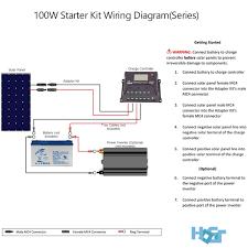 watt off grid polycrystalline solar starter kit hqst solar wiring diagram >>