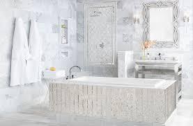 bathroom wall tiles design ideas. Beautiful Ideas White Marble Mosaic Bathtub For Bathroom Wall Tiles Design Ideas