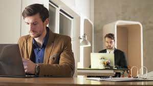 people bored at work. young businessman bored during work - 4k stock footage clip people at i