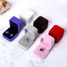 velvet ring holder colors velvet ring boxes fashion engagement wedding jewelry box pendant ring holder display gift box case accessories velvet ring holder