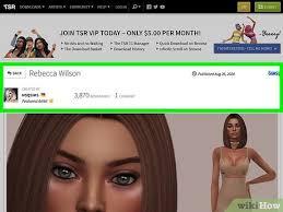 custom content on sims 4