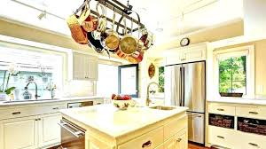 kitchen storage organization cooks standard ceiling mounted wooden pot rack