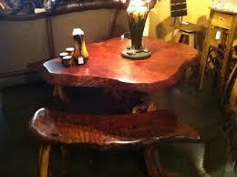 Redwood Top Juniper Base Dining Table 799000 Montana