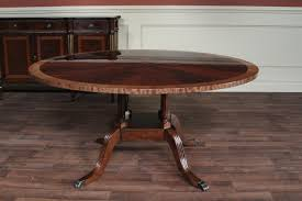 60 round mahogany dining table single pedestal dining
