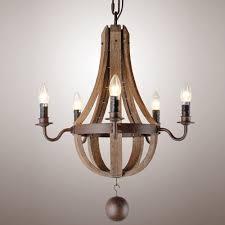 wood kitchen island chandelier pendant lighting wood wine barrel