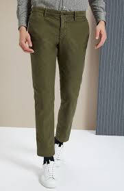 Incotex Size Chart Slim Fit Green Stretch Tricochino Trousers