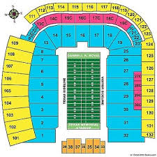 Texas Dkr Memorial Stadium Seating Chart 4 Texas Longhorns Vs Baylor Bears Sec 104 Row 5 40