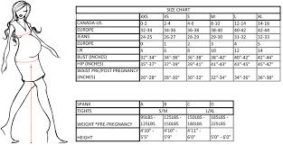 Maternity Pants Size Chart Maternity Clothes Size Chart Apso Bibi