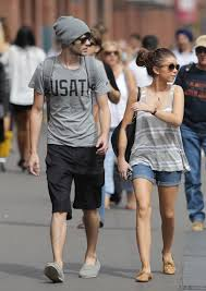Sarah Hyland Matt Prokop Walking Around China Town in Sydney.