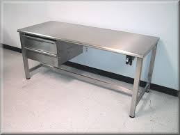 stainless steel hydraulic lift table w hand crank ss drawers