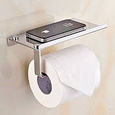 toilet tissue holder. Bosszi Wall Mount Toilet Paper Holder, SUS304 Stainless Steel Bathroom Tissue Holder With Mobile Phone O