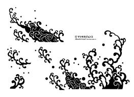 和風の波模様 シルエットデザイン