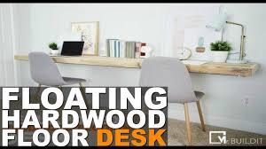 FLOATING HARDWOOD FLOOR DESK || DIY