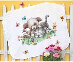 Dimensions Pet Friends Baby Quilt - Stamped Cross Stitch Kit 70 ... & Pet Friends Baby Quilt - Stamped Cross Stitch Kit Adamdwight.com