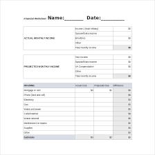 Financial Excel Spreadsheet Financial Spreadsheet Template 8 Free Excel Pdf