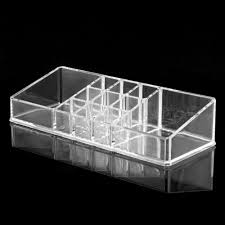 wholetide 5 auau clear acrylic cosmetic organiser lipstick brush holder makeup storage case