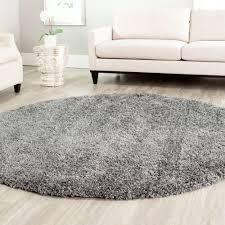 soft round grey rug