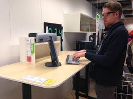 image of stand up desk ikea