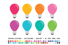157 svg vectors & graphics to download svg 157. Light Bulb Clip Art Set Graphic By Running With Foxes Creative Fabrica