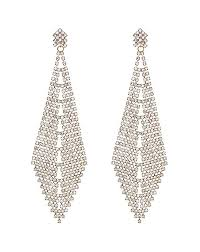 earrings crystal oversized chandelier earring gold 71682