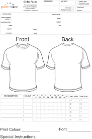 Free T Shirt Template Tshirt Order Form Ohye Mcpgroup Co