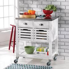 kitchen island cart white. Linon Robbin Kitchen Island Cart \u2014 White With Stainless Steel Top Kitchen Island Cart White S