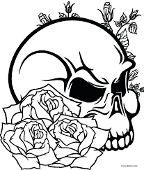 Coloring Pages Of Roses And Skulls Inviting Rose Sheets Regarding 9
