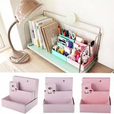 diy paper board storage box desk decor school office jewelry stationery makeup cosmetic organizer holder case