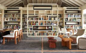 Library:Wooden Deck Contemporary And Classic Style House Library Design  Modern Great Home Library Design