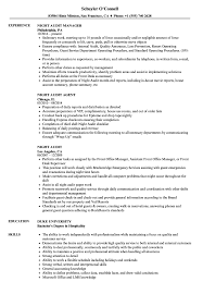 Night Audit Resume Samples Velvet Jobs