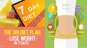 The Gm Diet Plan Quick Healthy Weight Loss In Just 7 Days