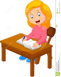 cartoon writing text in the book royalty free vector