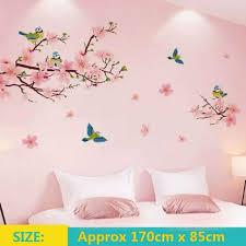 plum blossom flower bird wall decal