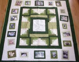 Photo memory quilt   Etsy & Photo Memory Quilt - Custom Designed with your pictures - Lap Size - Throw  Size - Adamdwight.com
