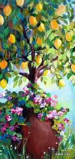 lemon tree x: lemon tree original painting  x  art by elaine cory